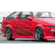 Corolla AE86 84-87 VT style Side skirts 3D