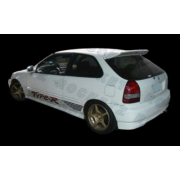Civic 96-00 R style roof Spoiler w/light 3D